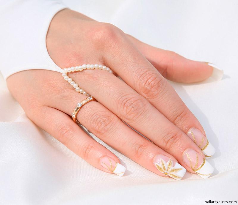 Фото ногтей на свадьбу нарощенные